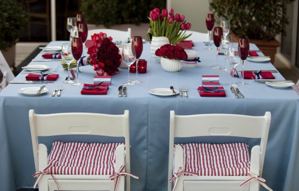 summer wedding, red & blue, romeo's chair, nautical wedding, the lane