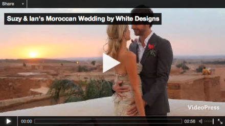 suzy & ian moroccan wedding video, white designs,