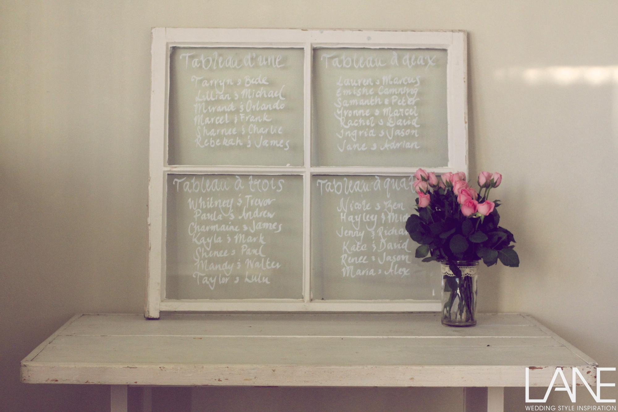 DIY Seating Chart… inspired by a glamorous French wedding.