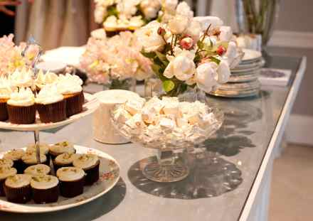 white winter high tea dessert bar The LANE Event Styling, Collette Dinnigan