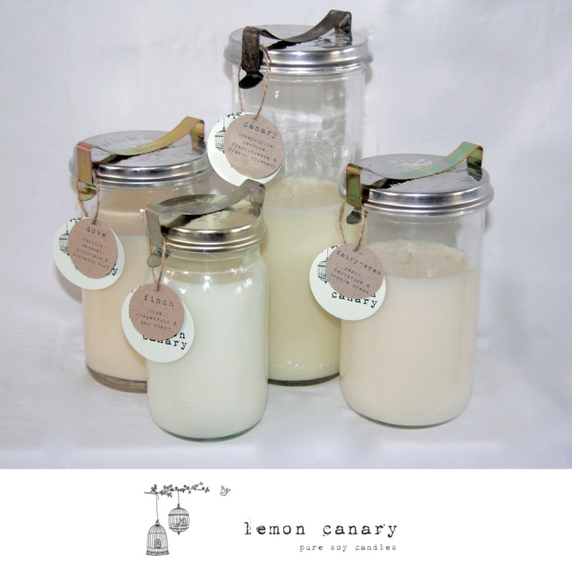 Lemon Canary Candle Bonbonniere wedding Favors, the lane