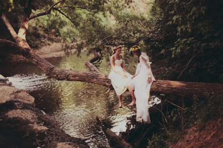 anne he, bridal editorial, the lane, forest wedding, whimsical wedding styling