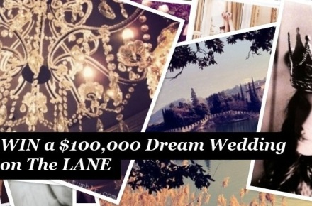 The LANE's $100,000 Dream Wedding Giveaway, winner,