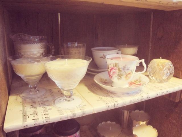 Bangalow vintage candle tea cups