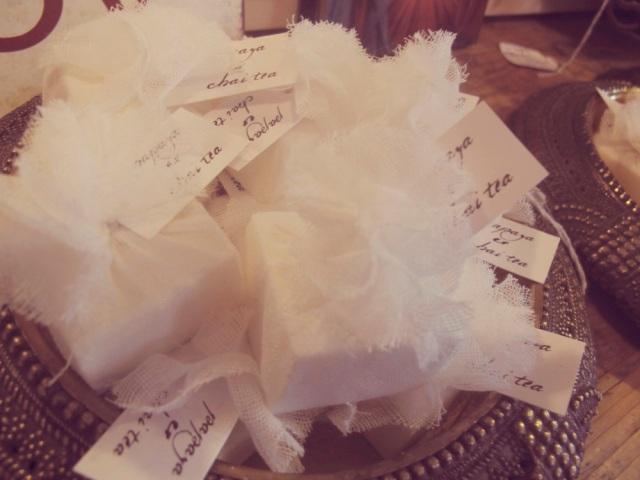 Bangalow chai tea wedding favours bonbonniere