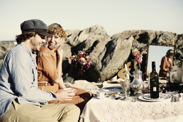 Bohemian Love Story_The LANE Event Styling_Couple_Beach Wedding
