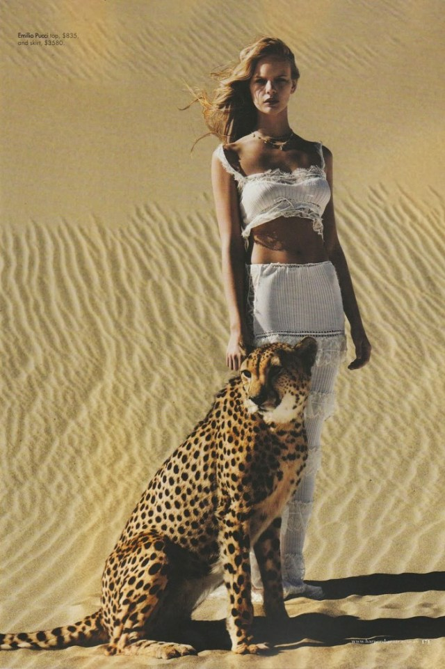 Harpers Bazaar April 2012 Editorial Under African Skies