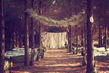 Wedding Ceremony Venues, woods wedding, rustic wedding