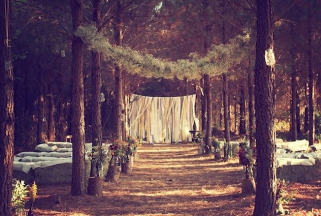 Wedding Ceremony Venues, wedding in the woods, forest,