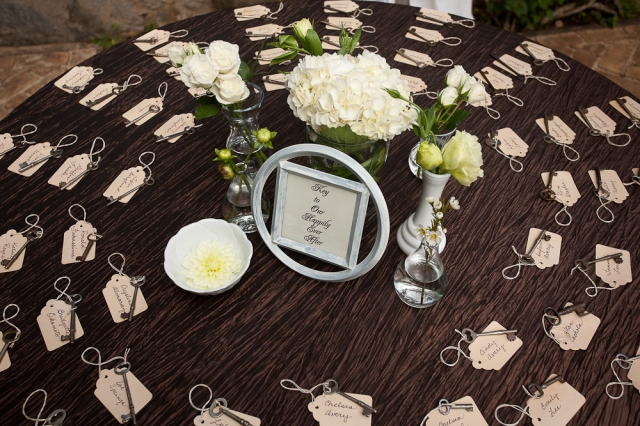 Wedding Seating Chart Ideas The LANE, rustic vintage keys