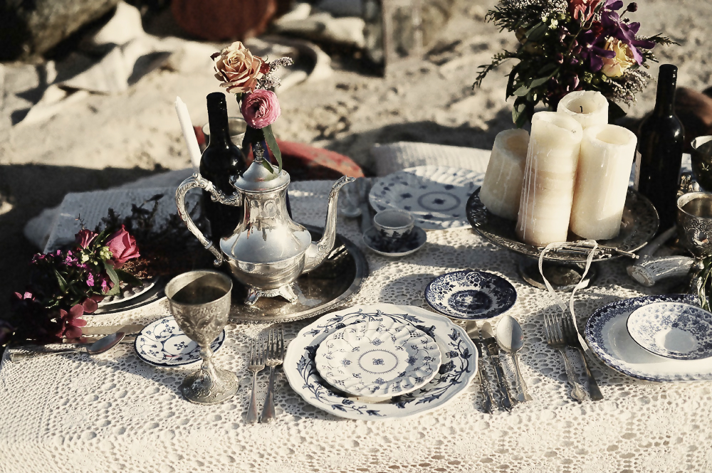 Bohemian Wedding Blue Willow China Beach Wedding Inspiration