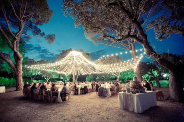 silvia antonio fairy lights wedding